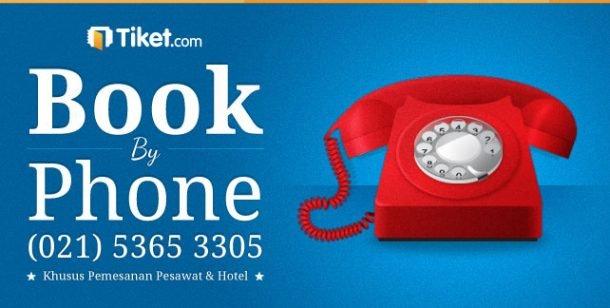 tiket.com book phone