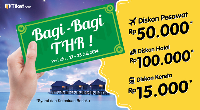 Heboh! Tiket.com Bagi-Bagi THR