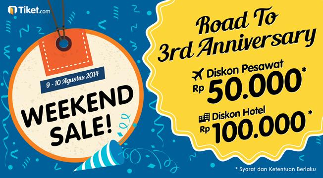 Kado Diskon Melimpah di WEEKEND SALE Road to 3rd Anniversary