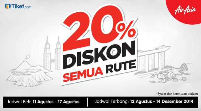 Terpilih Menjadi Maskapai Terbaik dan Termurah di Indonesia, Air Asia Diskon 20% Semua Rute
