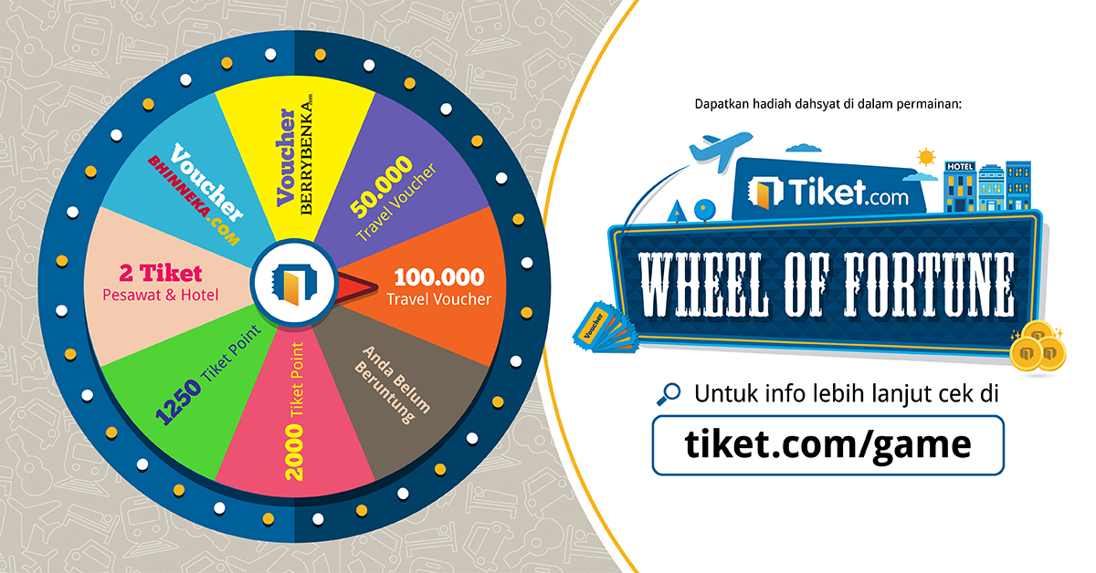 Wheel of Fortune Tiket.com