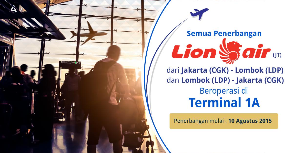 Perpindahan Keberangkatan dan Kedatangan Terminal Route Lion Air