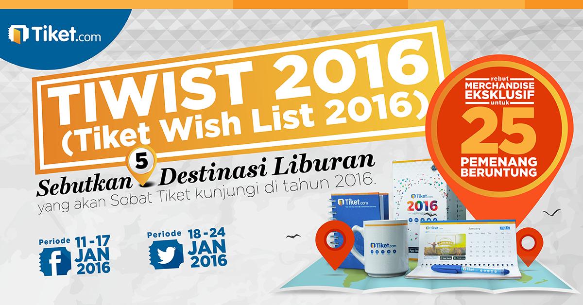 Tiket Wish List 2016