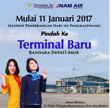 Sriwijaya dan NAM Air pindah terminal