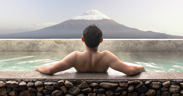 Onsen With Mount Fuji View