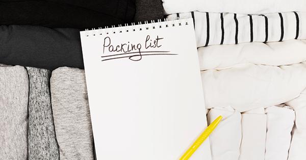 Tips Packing untuk Liburan - Buat Daftar Barang Bawaan