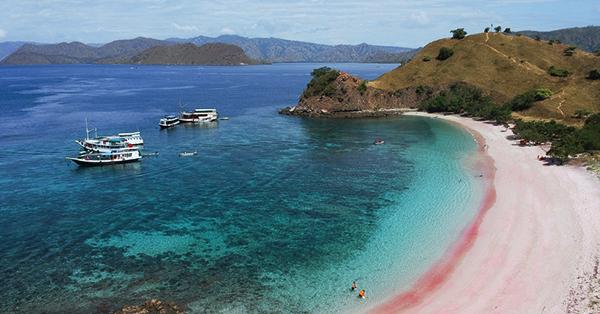 Cara Menuju Pantai Pink - Jalur Laut