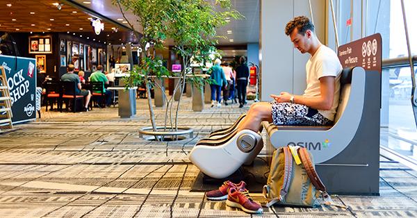 Changi Airport Fasilitas Gratis - Kursi Relaksasi