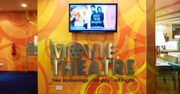 Changi Airport Fasilitas Gratis - Movie theatre