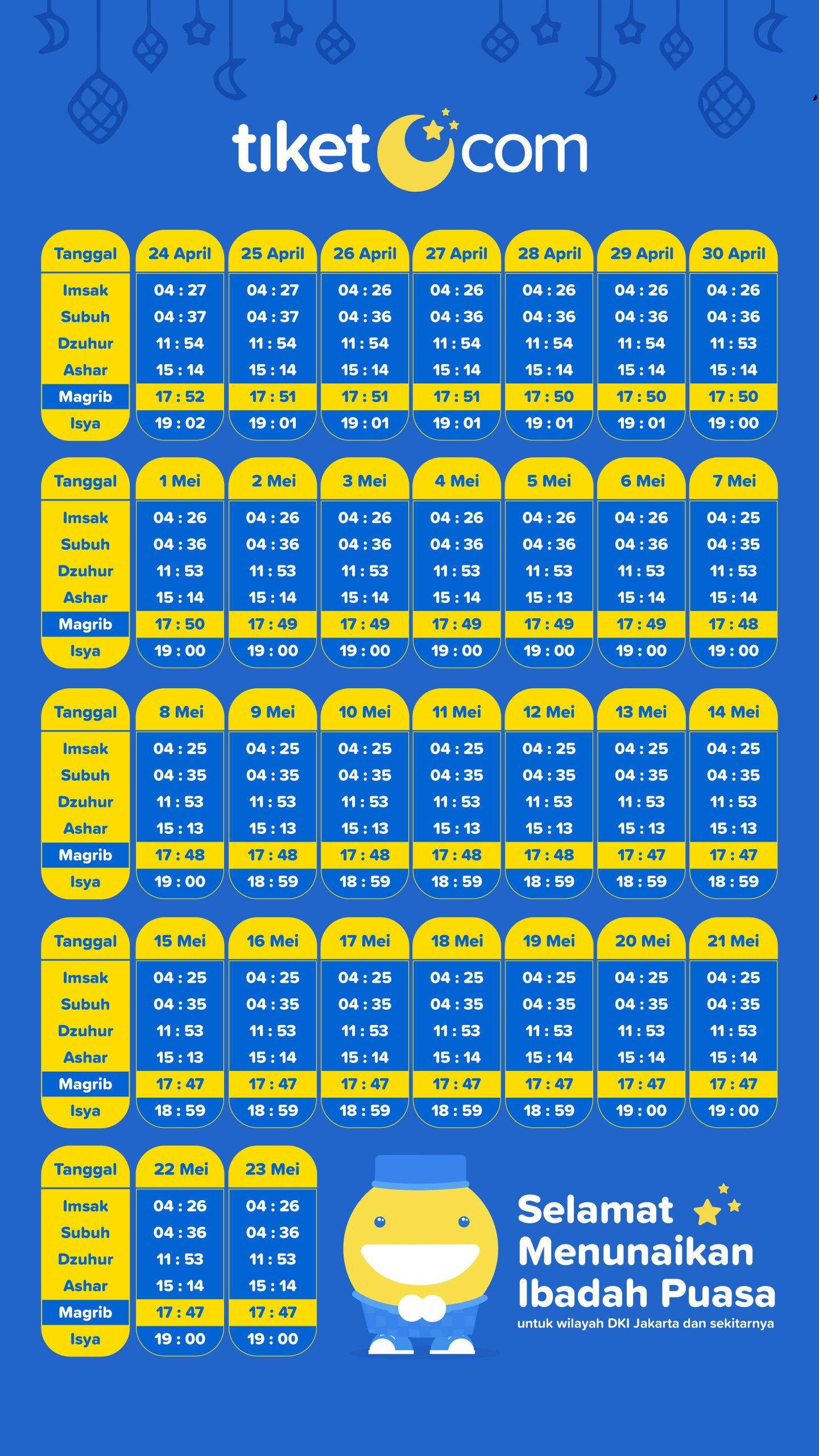 Jadwal Buka Puasa Ramadhan & Imsakiyah 2020 | tiket.com