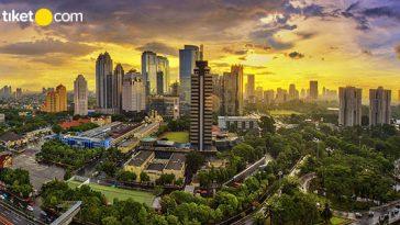 Keindahan Kota Jakarta dari Ketinggian