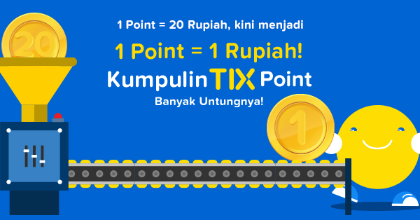 Konversi TIX Point Terbaru