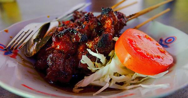 Kuliner Malam di Blok M Jakarta - Sate Ayam Kambing RSPP