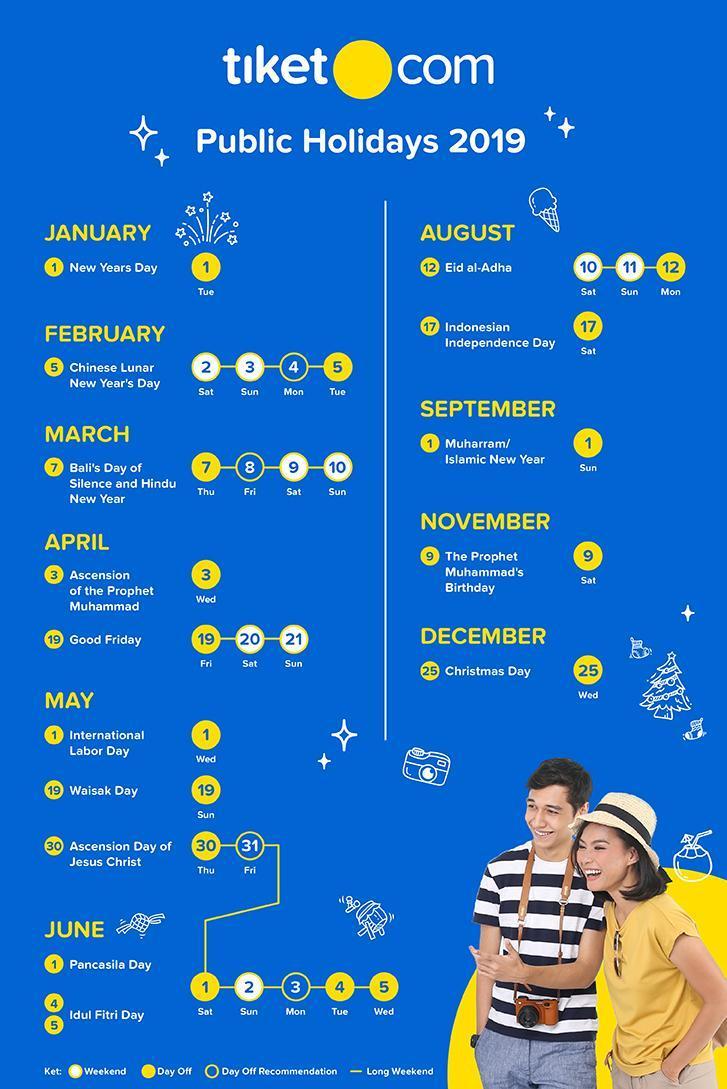 2019 Public Holidays