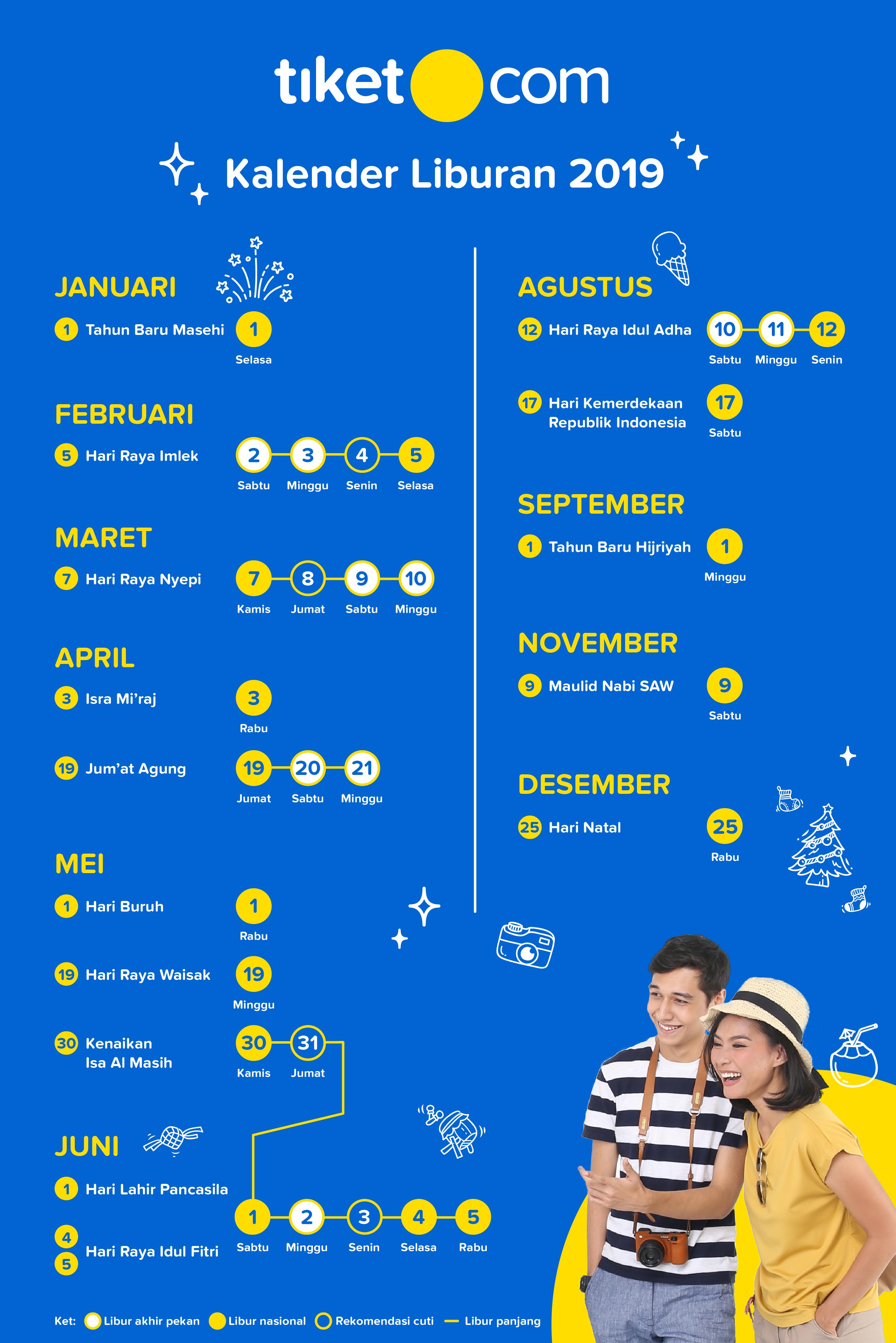 Liburan Hari Kejepit - Kalender 2019