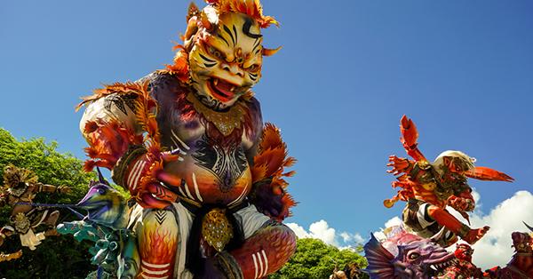 Pawai Ogoh-Ogoh di Bali Meriah