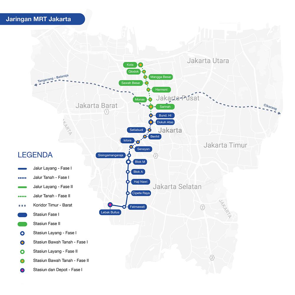Peta Jalur MRT Jakarta 2019 Terbaru dan Terlengkap - Peta MRT