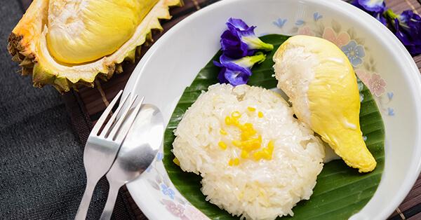 Rekomendasi Kuliner Bangkok - Durian Sticky Rice