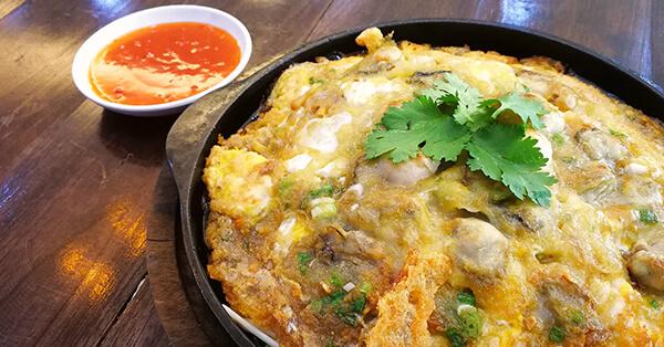 Rekomendasi Kuliner Bangkok - Oyster Omelette