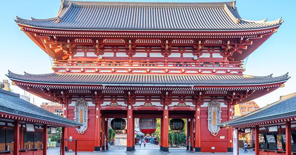 Tempat Instagramable di Tokyo - Gerbang Kaminarimon Kuil Sensoji Asakusa