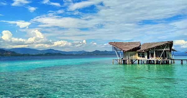 Tempat Wisata Pulo Cinta Gorontalo - villa pulo cinta