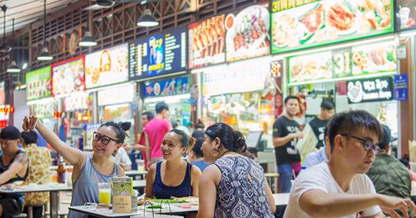 Tempat Wisata Singapura dalam Film Crazy Rich Asians - Newton Food Cetre