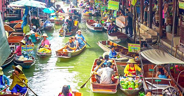 Tempat Wisata di Pattaya - Pattaya Floating Market