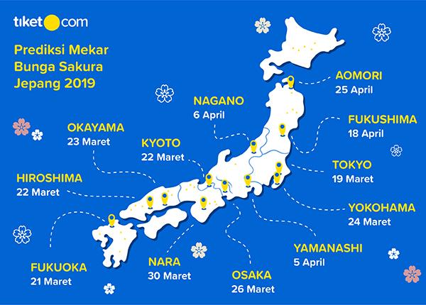 Tempat Melihat Bunga Sakura Jepang