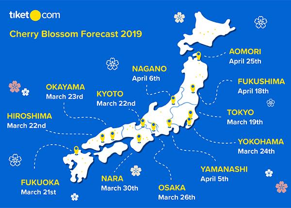 Cherry Blossom Forecast 2019