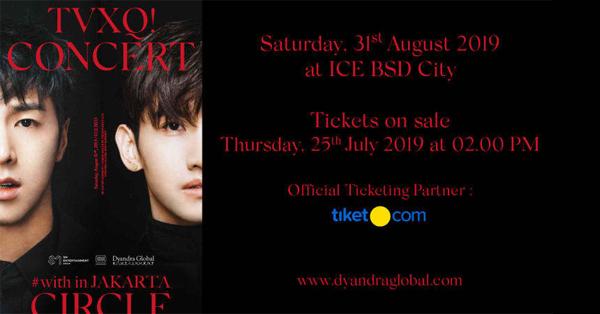 Tiket Konser TVXQ Circle Jakarta 2019