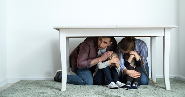 Tips to Stay Safe during Natural Disaster_blog_Stay in Safe Area Earthquake (crawl under a table)