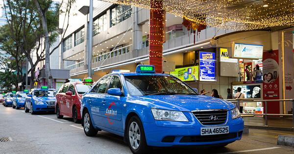 Transportasi Publik di Singapore - Taxi