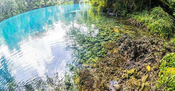 liburan tahun baru - keindahan danau labuan cermin